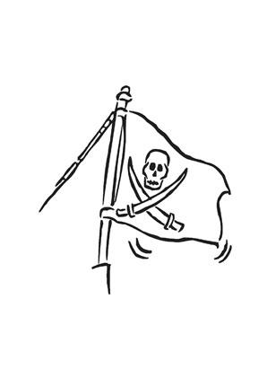 Ausmalbilder Piratenfahne Am Mast Piraten Malvorlagen