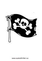 Ausmalbilder Piratenflagge   Piraten Malvorlagen ausmalen