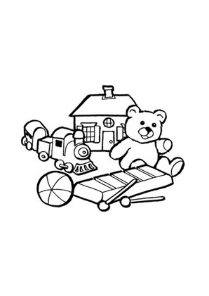 Ausmalbilder Bunte Spielsachen Spielsachen Malvorlagen