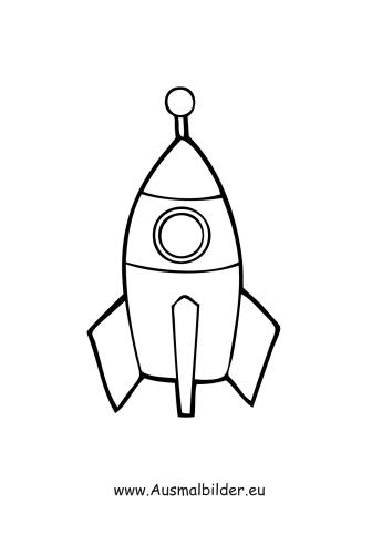 Ausmalbilder Rakete - Spielsachen Malvorlagen ausmalen