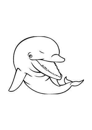 Ausmalbilder Junger Delphin - Delphine Malvorlagen