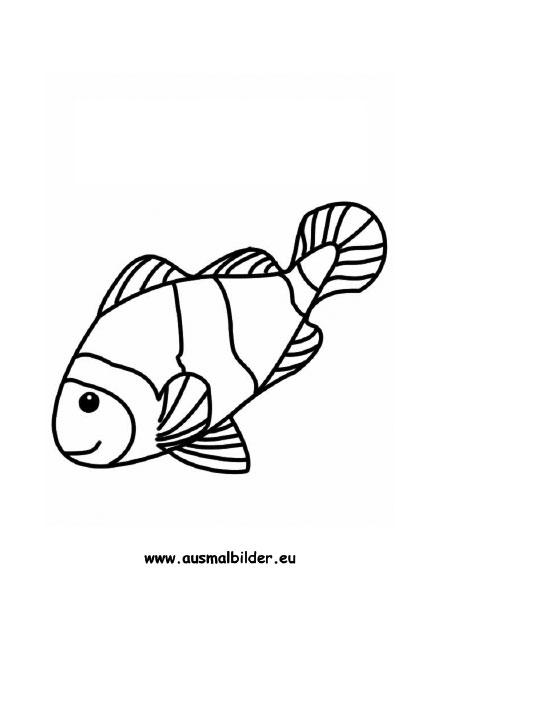 Ausmalbilder Fisch Fische Malvorlagen