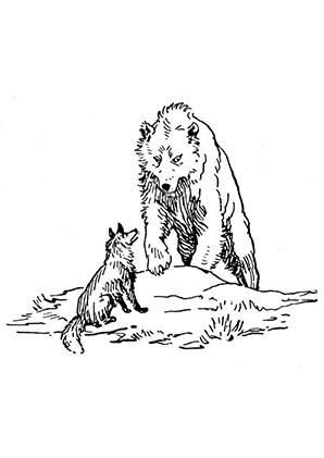 Ausmalbilder Fuchs Und Br Fchse Malvorlagen