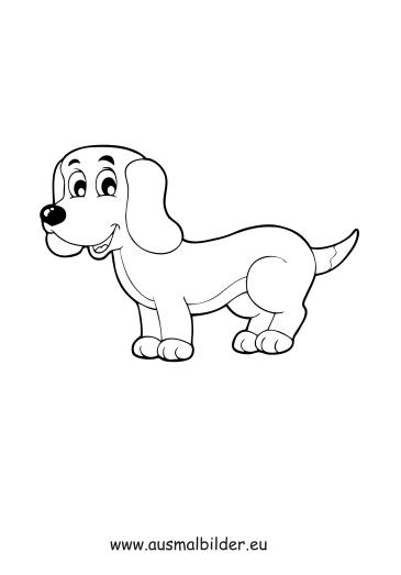 Ausmalbilder Welpe - Hunde Malvorlagen