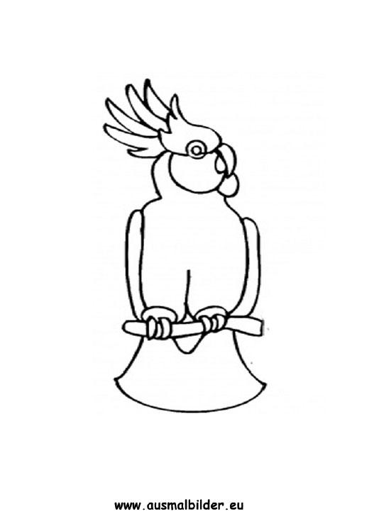 Ausmalbilder Kakadu  Kakadu Malvorlagen