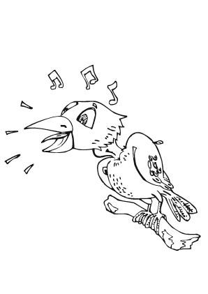 Ausmalbilder Singvogel - Vögel Malvorlagen