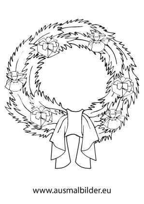 Ausmalbilder Schner Adventskranz Adventskrnze Malvorlagen