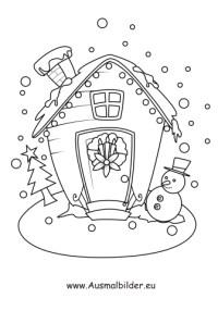 Kostenlose Malvorlage Lebkuchenhaus Weihnachten Archive