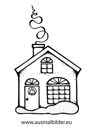 Ausmalbilder Weihnachtliches Huschen Weihnachtshuser