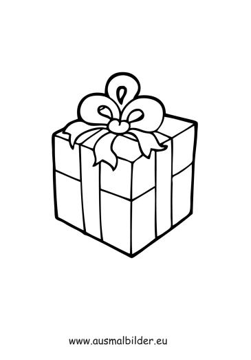 Ausmalbilder Geschenk - Weihnachten Malvorlagen