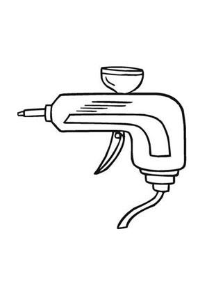 Ausmalbilder Airbrush Pistole Werkzeuge Malvorlagen