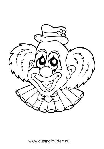 Ausmalbilder Clown Zirkus Malvorlagen