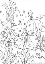 Ausmalbilder von Der Regenbogenfisch zum Drucken
