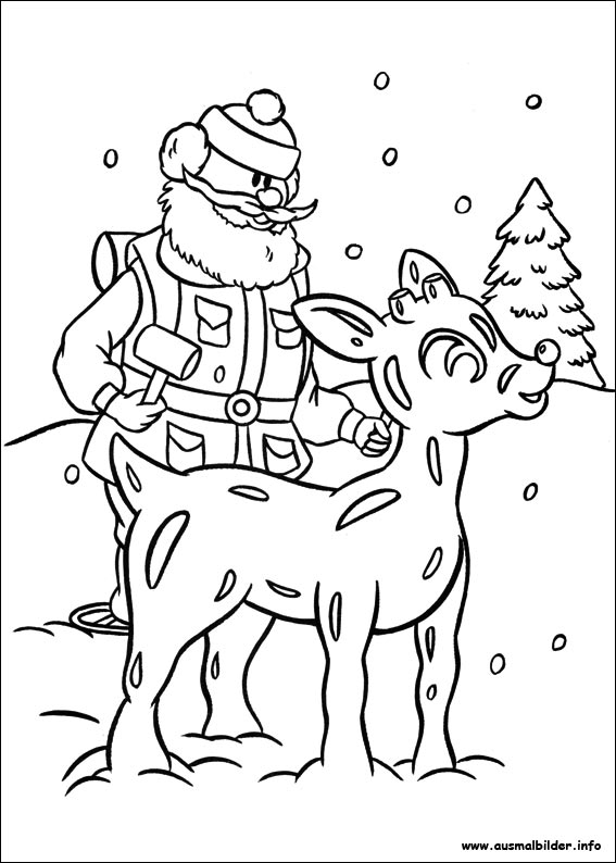 Reindeer Rudolf Coloring Page Auto Electrical Wiring Diagram Draw A