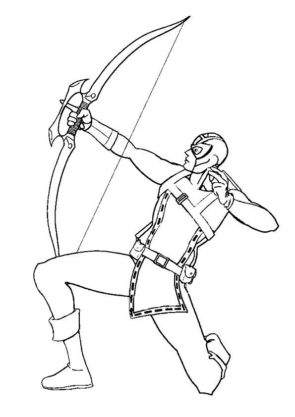 Hawkeye Ausmalbilder & Malvorlagen - 100% KOSTENLOS