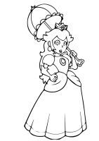 Prinzessin Peach Ausmalbilder & Malvorlagen   100 KOSTENLOS