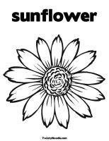 Sonnenblume Ausmalbilder & Malvorlagen   100 KOSTENLOS