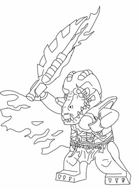 Lego Chima Coloring Page Ronniebrownlifesystems