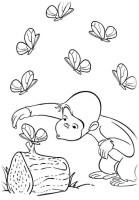 Ausmalbilder für Kinder Coco Der neugierige Affe 8