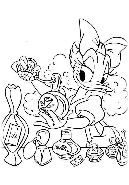 Ausmalbilder für Kinder Daisy Duck 18