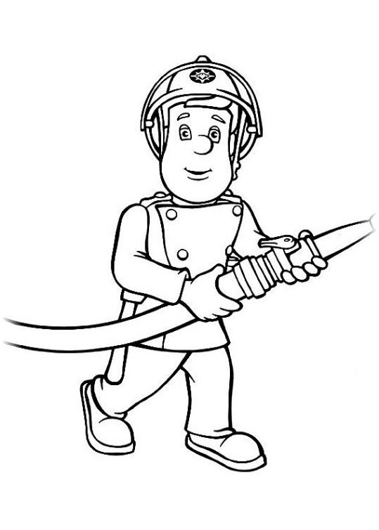 Ausmalbilder für Kinder Feuerwehrmann Sam 2
