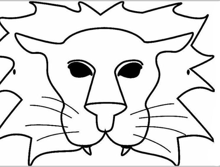 Malvorlage Löwe Maske Batavusprorace