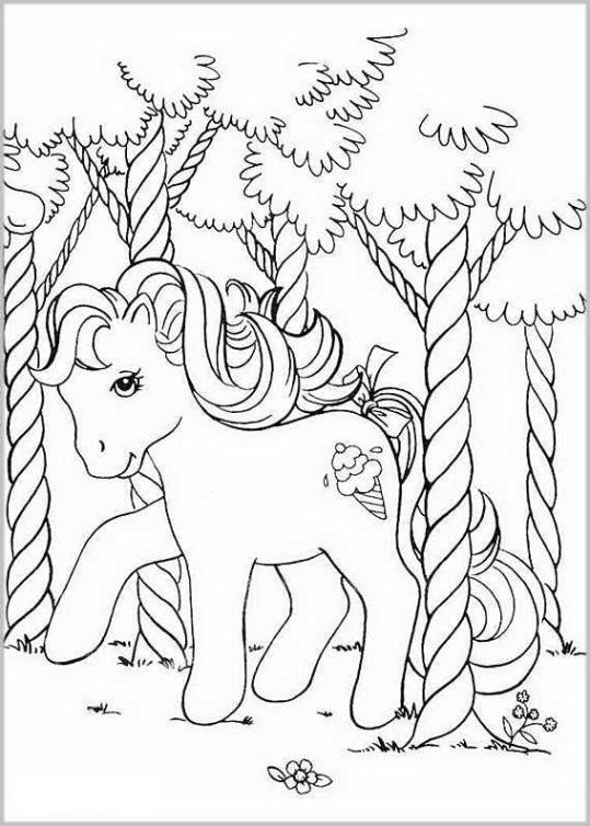 Ausmalbilder für Kinder My Little Pony 11