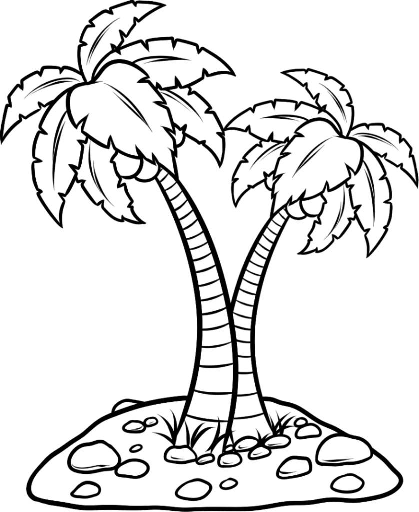 Ausmalbilder für Kinder Palmen 11