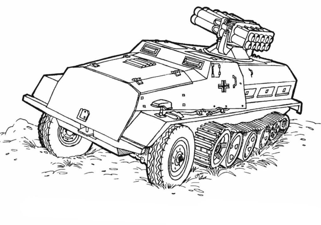 Panzer ausmalbilder