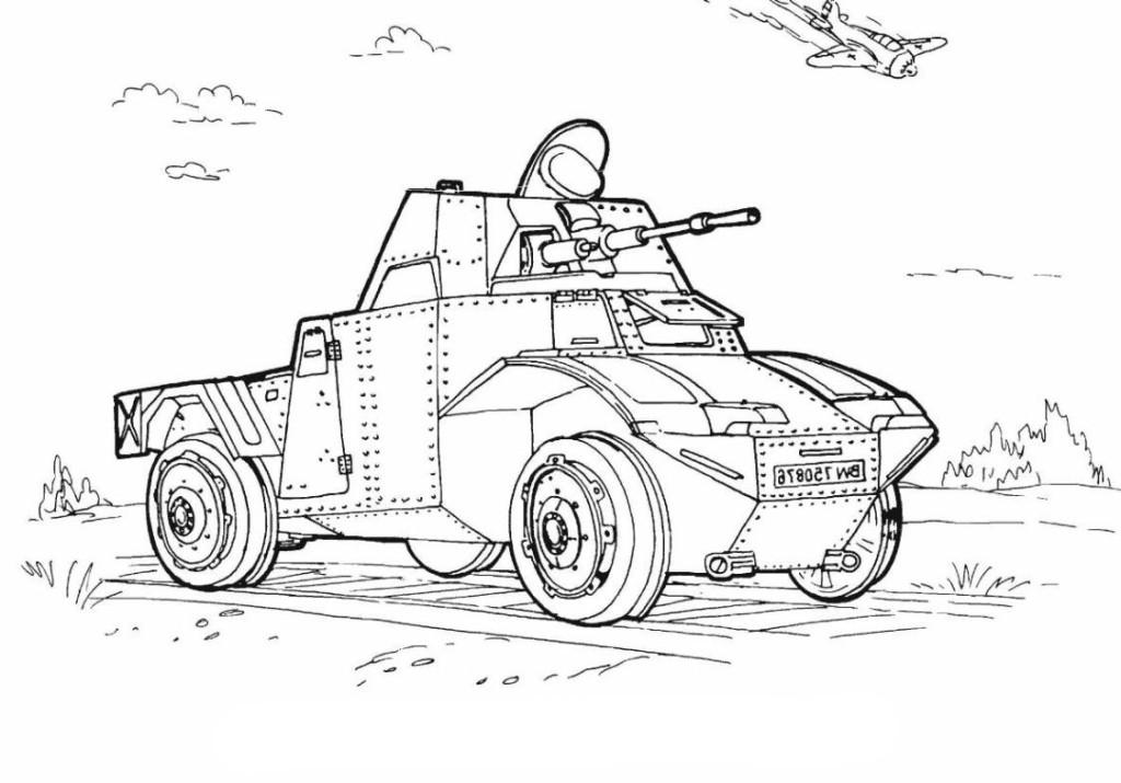 Ausmalbilder Kinder Panzer - Kostenlos zum Ausdrucken