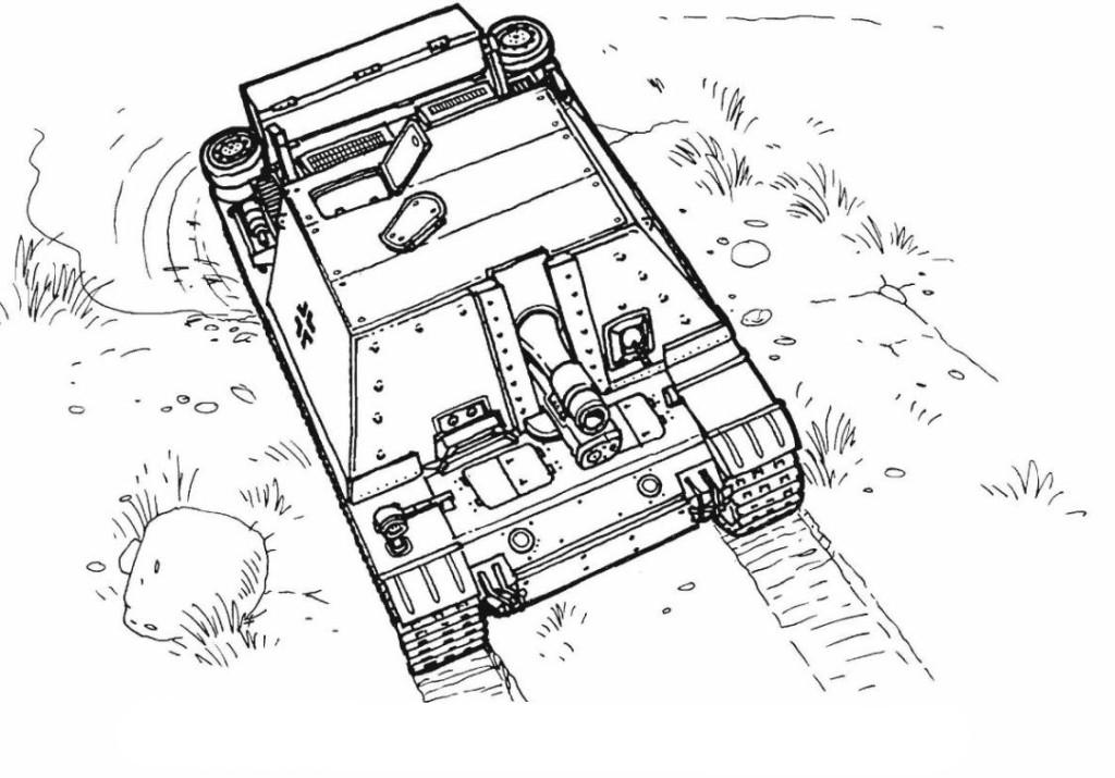 Ausmalbilder für Kinder Panzer 13