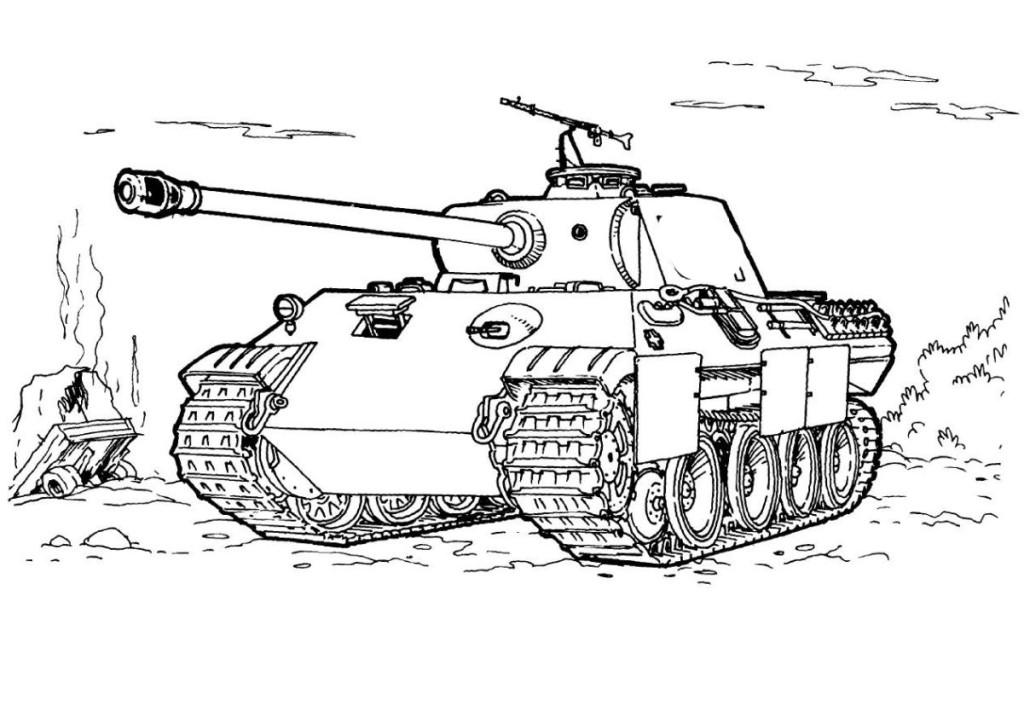 Panzer bilder zum ausmalen - Malvorlagen Das Militär 152