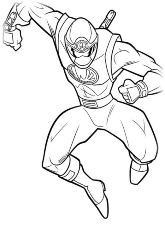 Ausmalbilder für Kinder Power Rangers 11