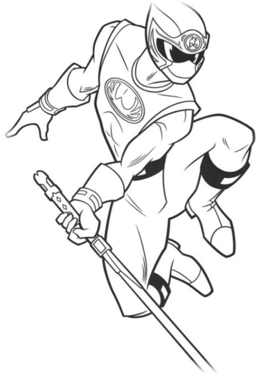 Ausmalbilder für Kinder Power Rangers 8