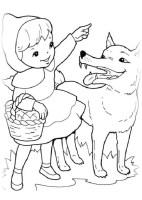 Ausmalbilder für Kinder Rotkappchen 1