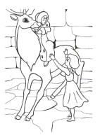 Ausmalbilder für Kinder Schneekonigin 9