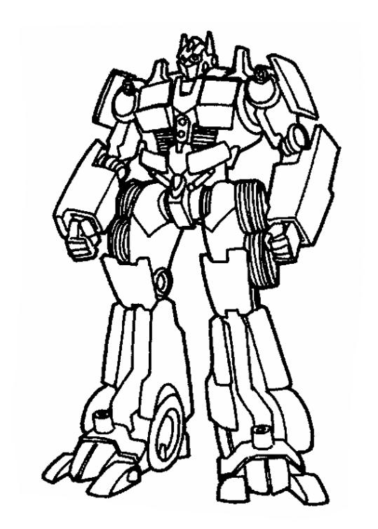 Ausmalbilder für Kinder Transformers 14