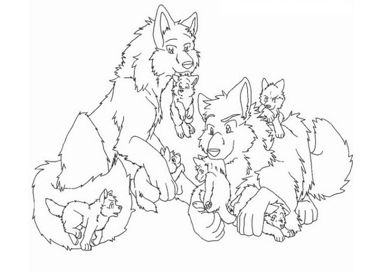 Ausmalbilder Wolf Kostenlos