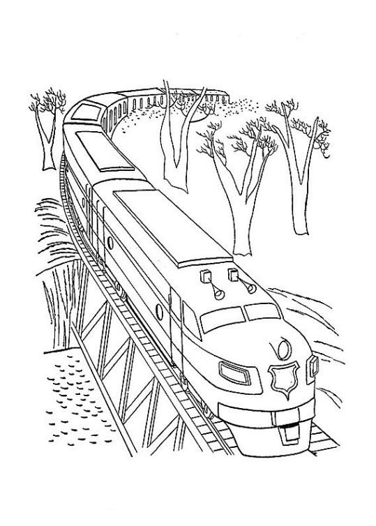 Ausmalbilder für Kinder Zug 11