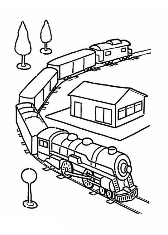 Ausmalbilder für Kinder Zug 23