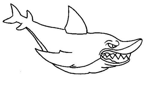Ausmalbilder für Kinder Haifisch 8