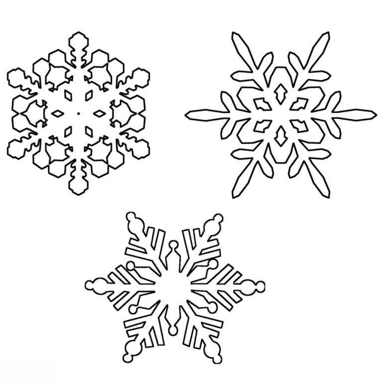 Ausmalbilder für Kinder Schneeflocke 8