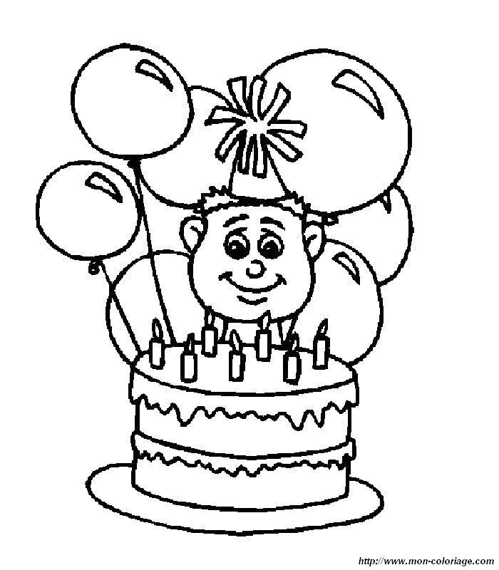 Ausmalbilder Geburtstag bild Kuchen