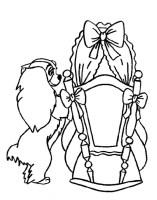 Ausmalbilder Susi und Strolch, bild Die Wiege des Babys