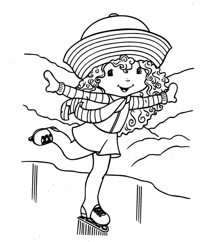 Ausmalbilder Emily Erdbeer bild Ich mag Schlittschuhlaufen
