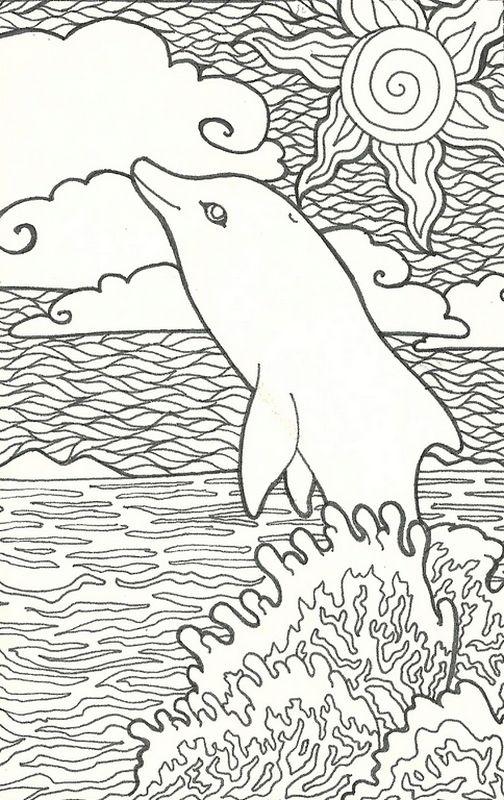 Ausmalbilder Delfin bild Delfine Ausmalbilder fur Erwachsene