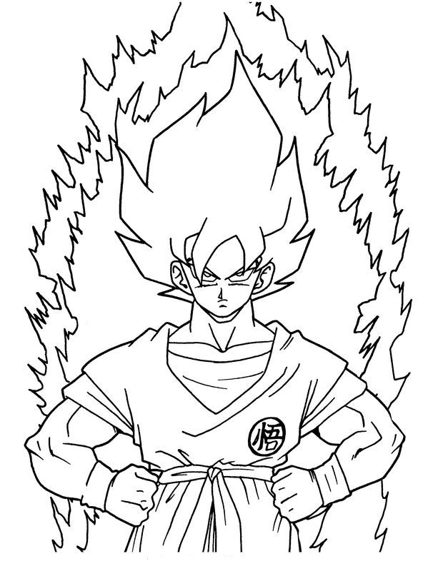 Ausmalbilder Dragon Ball Z, bild Son Goku Super Krieger