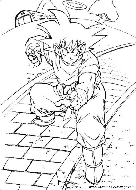 Ausmalbilder Dragon Ball Z Bild Son Goku Ausbildung Auto