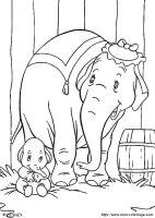 Ausmalbilder Dumbo, bild dumbo09