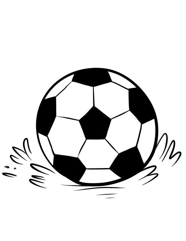 Ausmalbilder Fußball, bild Fussball zum Ausmalen